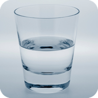 Is this glass of water half empty or half full? Wellness pschology would defintely indicate the latter.
